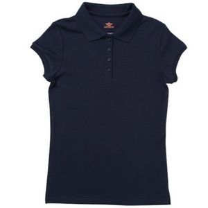 Girls Dockers Navy Short-Sleeve Polo Shirt NWT